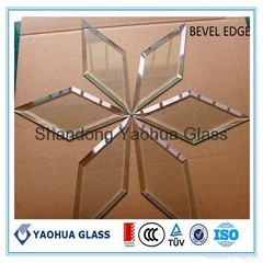 Shaped cutting  glass panel