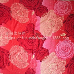 100% polyester home textile fabric bedding fabric
