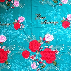 Disperse printed 100% polyester home textile fabric