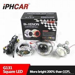 艾卡 3寸汽車透鏡超亮LED燈泡汽車大燈