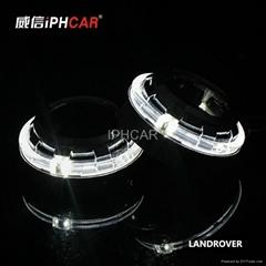 艾卡超高亮度光導圓形天使眼 H1 雙氙氣汽車雙光透鏡 前照燈