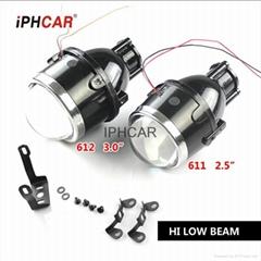 艾卡汽车防水防尘12V H11氙气灯泡DRL双光雾灯