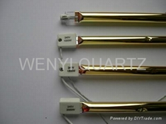 gold reflector Quartz lamp Infrared heating tube