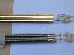 Heraeus Gold reflector quartz heater infrared lamp