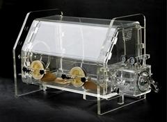 Laboratory vacuumized acrylic glove box for inert testing operation