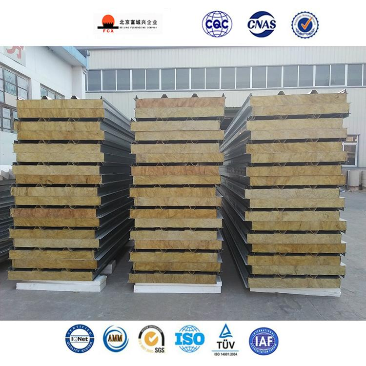 Rock wool(Mineral wool) Sandwich Panel Board For  Warehouse Roof and Wall 2