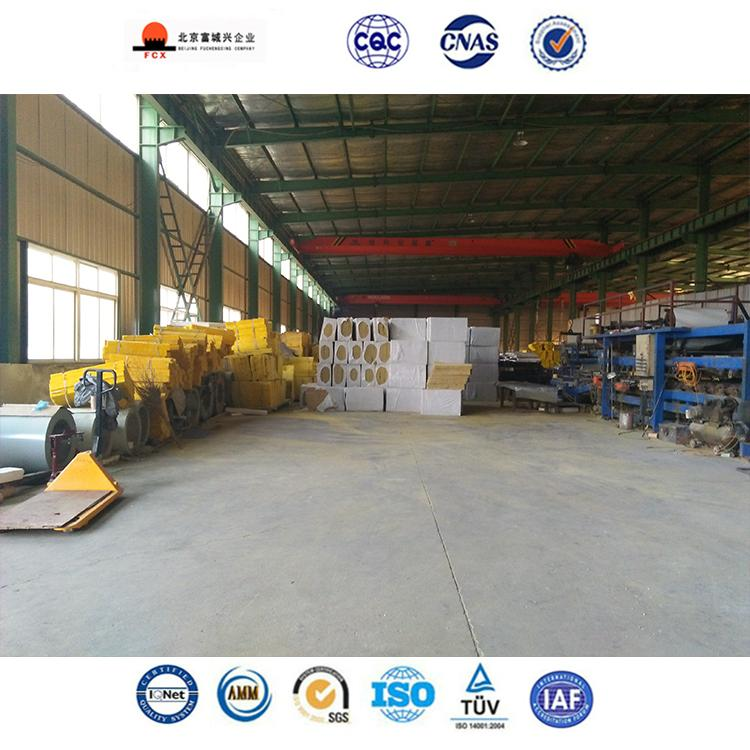 Rock wool(Mineral wool) Sandwich Panel Board For  Warehouse Roof and Wall 5