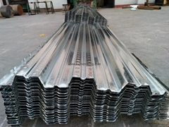 0.7 MM Thick 720 Zinc Coated Galvanized Steel Decking