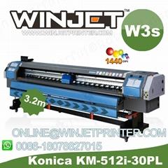 Industrial digital machine W3s konica 512 14pl winjet solvent printer
