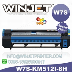 printing Foldable solvent printer bottle Hot selling W7S solvent printer konica