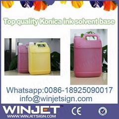 5liters/bottle konica 512 solvent ink for JHF vista K8 3306FS printer