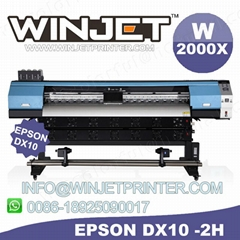 Eco solvent printer W2000X DX7 printhead machine W2000X eco solvent flatbed prin
