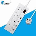 4 way extension cord socket  uk 3 pin