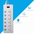 6 outlet power strip with multi usb