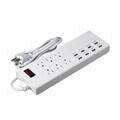US 6 gang Multi-functional usb outlet