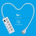 Europe 5 way socket extension strip 4 usb port surge guard  3