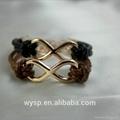 Big Infinity Braided Leather Bracelet