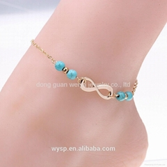Women Simple Blue Turquoise Infinity