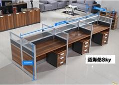 板式家具组合卡位办公桌椅深圳出口手续