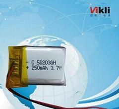 聚合物锂电池502030-250MAh蓝牙电池