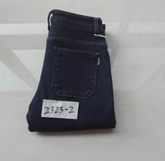 厂家批发新款加厚加绒中腰牛仔裤女小脚裤现货