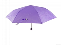 High quality windproof promotional sun and rain 3 folding umbrella