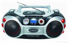 Portable CD/VCD/DVD boombox