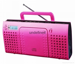 CD/radio boombox with MP3/USB/SD