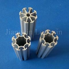 Aluminum profile for exhibition pole sandblasted si  er anodized