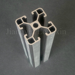 Aluminum profile for industry 40x40mm si  er anodized