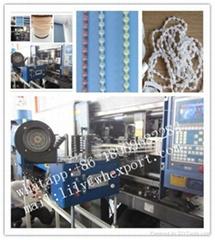 Jewelery plastic thread curtain ball chain stringing making machine