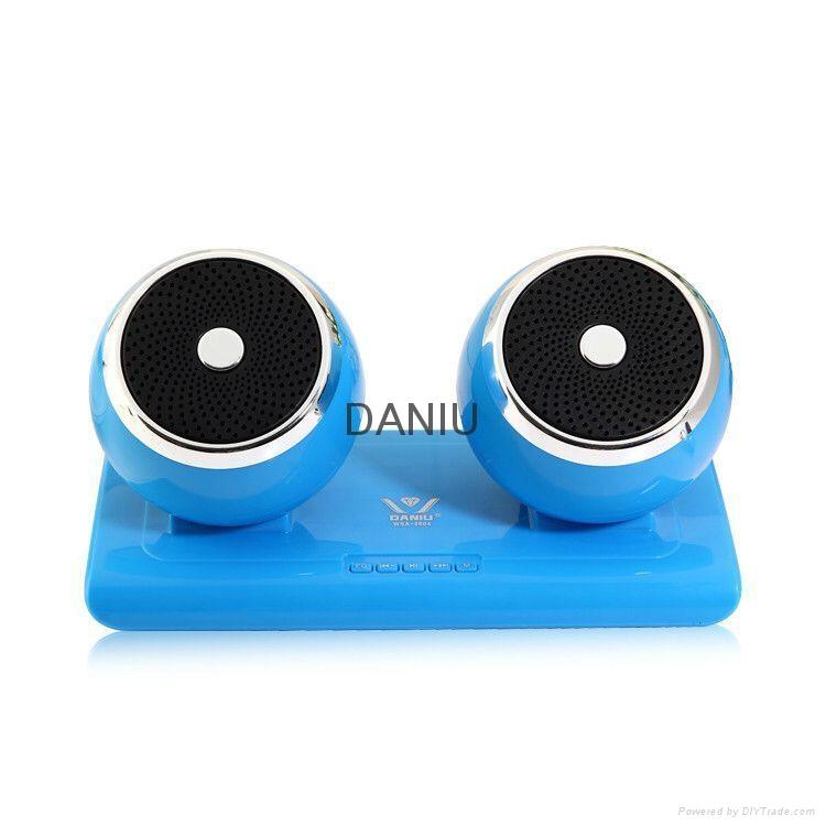 Bluetooth Speaker Stereo Portable Wireless Subwoofer Loudspeakers with 2 speaker 2