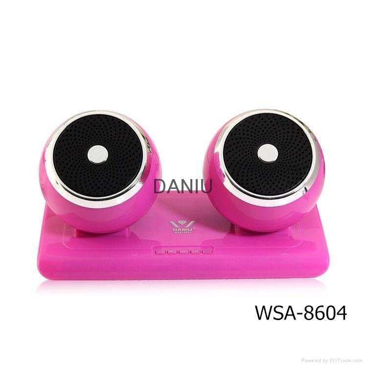 Bluetooth Speaker Stereo Portable Wireless Subwoofer Loudspeakers with 2 speaker 3