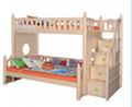 Original color bunk bed with staircase