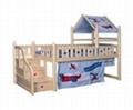 Original wood color loft beds with