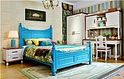 Colorful pine single beds  2