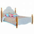 Kids pine wood single bed
