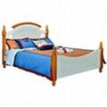 Kids pine wood single beds