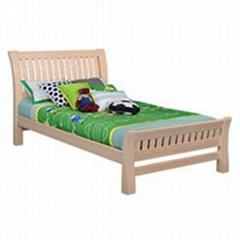 Original wood color themed kids pine bedroom