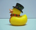 Soft Stress Plastic PU inflatable water ducks Kids Toy China Factory  3