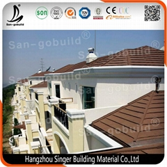 Chinese SGB Brand Corrugated Metal Roofing Sheets Bent Type Steel Roof Tiles