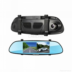"6.5"" LCD dual cam HD1080P with auto reverse parking rear view mirror car DVR"