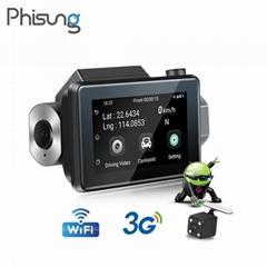 3G mini dash camera Remote monitor WIFI dual cams HD1080P recording car camcord