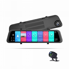 Phisung P68 12inch android 8.1 2+32G mirror car video recorder GPS navigation AD