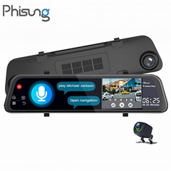 Phisung V68 Voice Control 4G car video recorder Android GPS Navigation ADAS WiFi