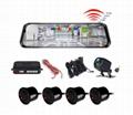 H50P 10inch car video record with parkig sensor function dual lens HD1080P