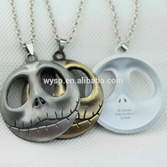 Jack Surrounding Skull Necklace With