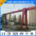 workshop used mini mobile a-frame rail mounted crane electric hoist single girde