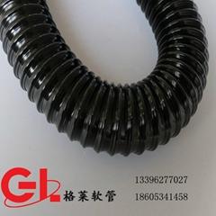 75mm*0.6mm进口料 pu聚氨酯镀铜钢丝伸缩软管