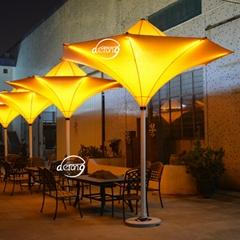outdoor lightening tulip umbrella